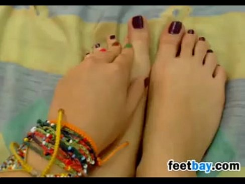 Sweet Girl Teases Her Beautiful Feet