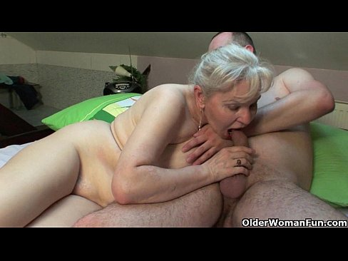 Hot older woman having sex