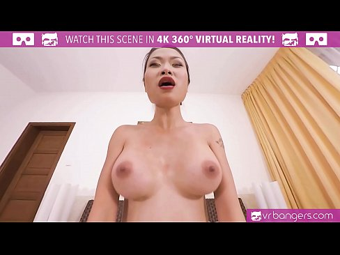 VRBangers Hot Asian PussyKat is getting fucked hard by a big cock and cumshot