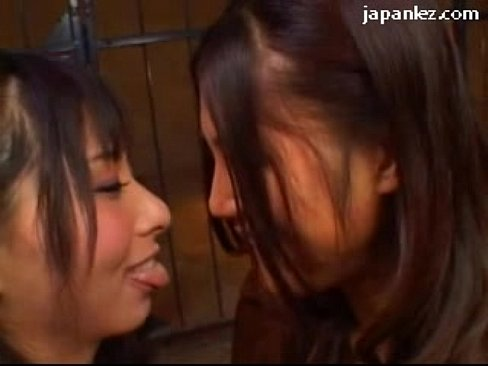 2 Asian Lesbians In Lingerie Kissing Rubbing Breasts