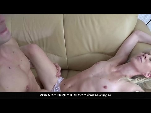 Three cocks fo blond milf