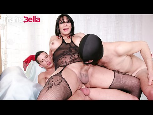 TRANSBELLA - Two Curious Studs Ass Fuck Horny Tranny Marcella Italy