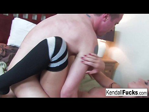 Sexy Kendall is in a crazy mood and decides to get her tight pussy rammed