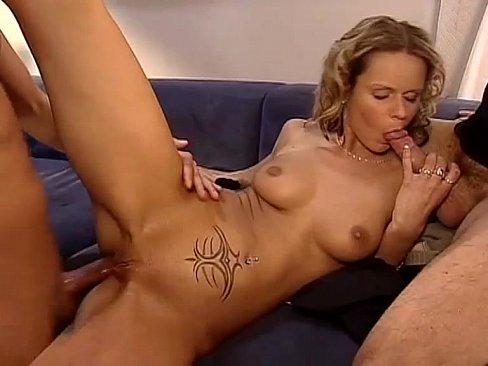 Lesbian ass licking threesome