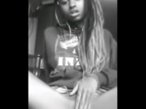 Horny ebony girl masturbation videos