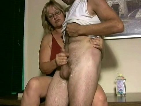 Milf walking in on boy jerking