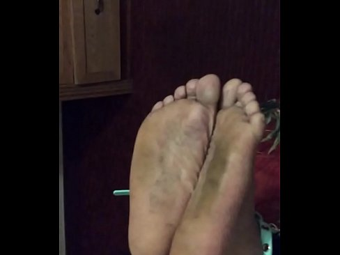 Bbw on the couch barefoot