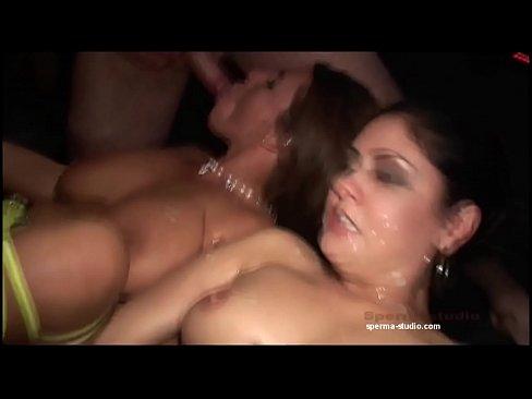 Creampie anal spermastudio gangbang