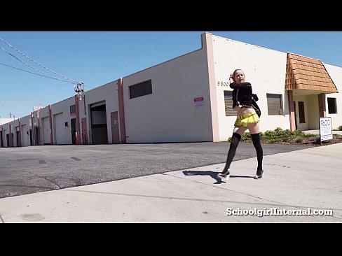 Hot Schoolgirl Gets Pissed When He Cums Inside Her!
