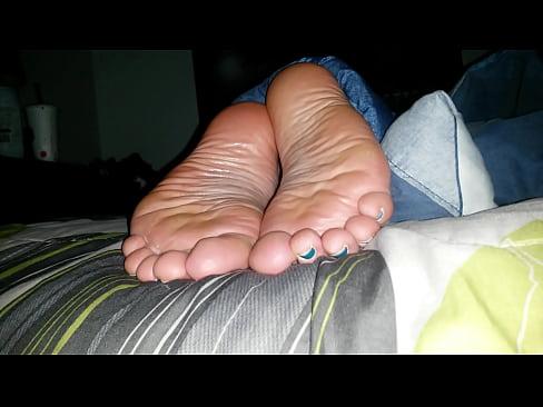 Dirty bbw sole with cumshot