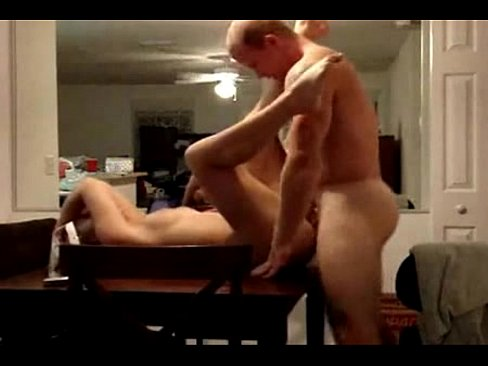 Homemade sex on dinner table video