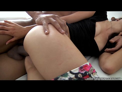 FirstAnalQuest.com - ANAL PAIN PORN WITH BBC DESTROYING HER TIGHT WHITE ASS