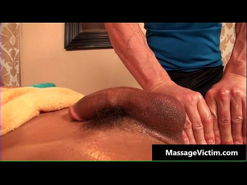 Oily deep anal massage