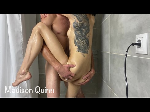 He fucked Madison in the shower and cum inside