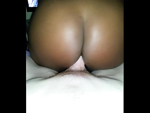Black booty bouncing on cock