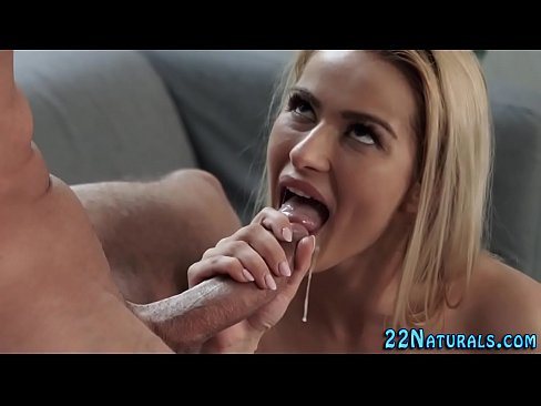 Pretty blonde gets facial