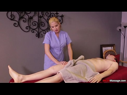 Blonde woman cock treatment