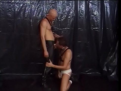 Blonde brown-hatter Blake Andrews explains his friend Lee Casey in leather harness that his keyster perfectly suits for his dong