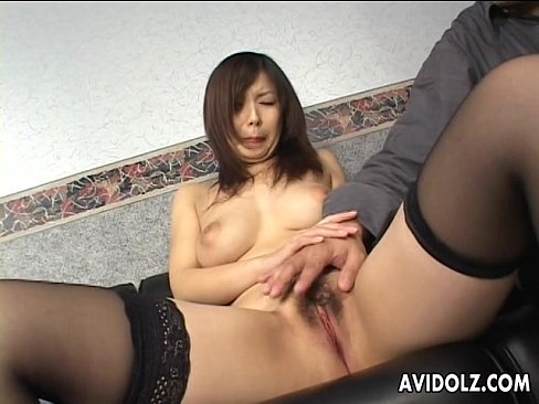 Provocative Japanese tart takes in two cocks