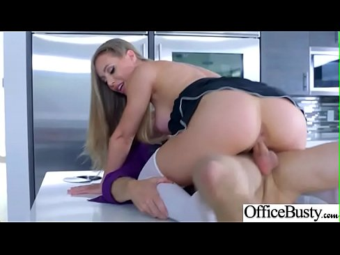 (Nicole Aniston) Huge Round Boobs Girl Banged Hard In Office clip-22