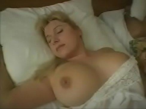 Chocked bi tits blonde