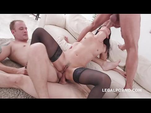 Sex Crazed Nicole Black Balls Deep Anal, DP And Triple Penetration