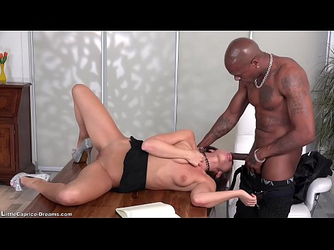 black - little caprice get fucked first time from a  black big cock