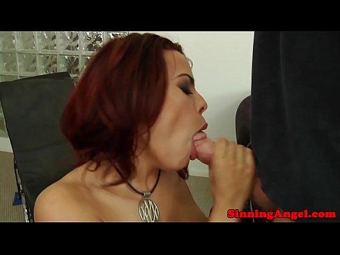 Cock Sucking Pornstar Rimmed