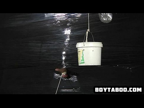 Guy enduring some brutal cock and ball torture