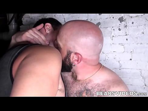 Throbbing cock bear Sebastian Sax fucked bareback doggystyle