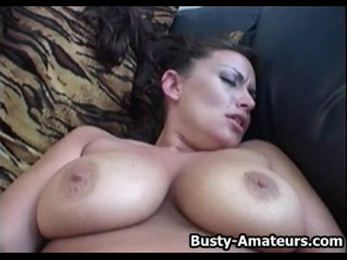 playing with her amateur tits