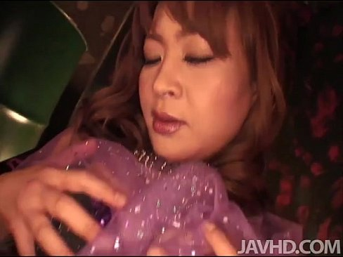 Hikaru Wakabayashi in purple doing sexy dance while she toys her pussy and ass w