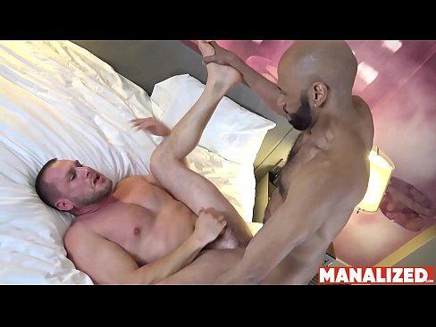 MANALIZED Stud Hans Berlin Cums After Interracial Bareback