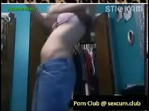 Beautiful girl with belly dancing abillities gives some lucky guy a sexy dance in front of the camer's Thumb