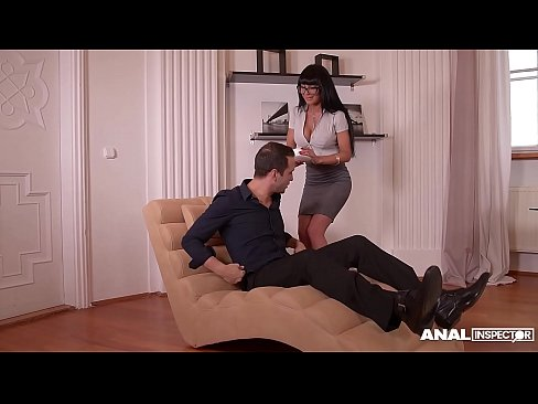 Anal inspoctors can't wait to see busty office Milf Valentina Ricci's ass