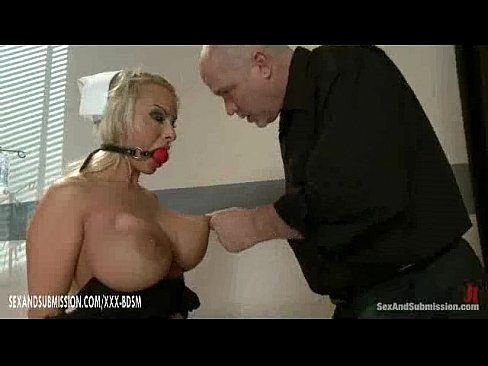 Really big boob bondage very
