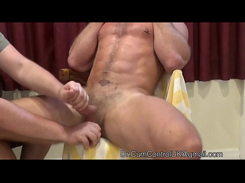 Hot muscle guy EDGED with some firm handy work - RUINED ORGASM