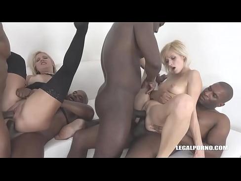 Greedy cock whores Ria Sunn & Caroline De Jaie fisting buffet & double anal