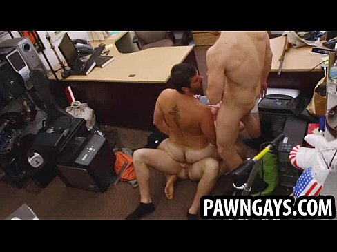 Amateur hunk gets double teamed at the pawn shop