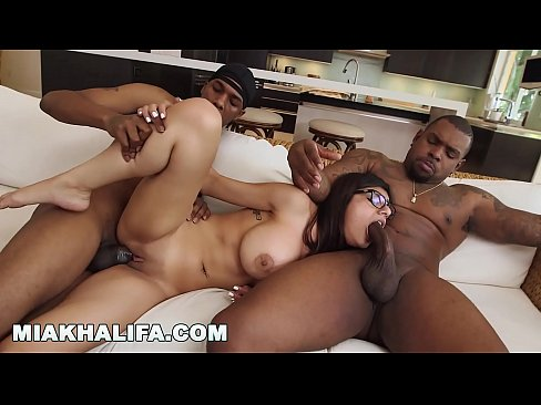 MIA KHALIFA – Big Tits Arab Pornstar Cheats On BF with Two Black Studs