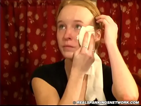 Crying real teen spankings