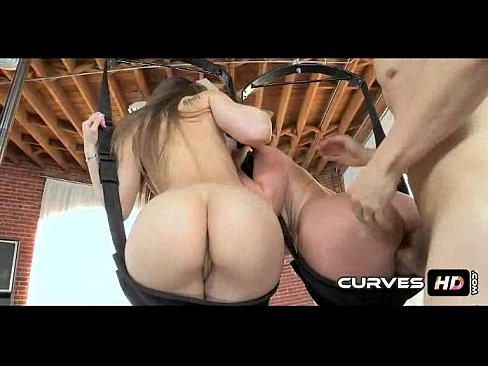 Submissive dude banged in sex swing