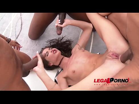 Incredible Sexy Slut Lovenia Lux Gets A Deep Hard DP Fuck