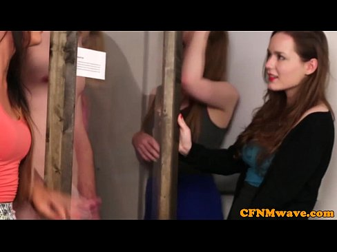Extreme femdom reverse CFNM nice gang bang