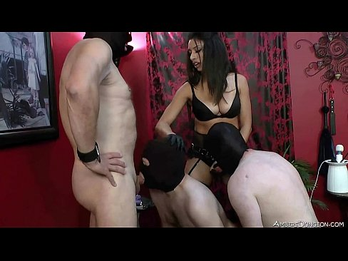 Mistress orders slave to suck Her asshole clean