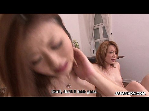 Two lustful Japanese chicks love being pounded long and hard
