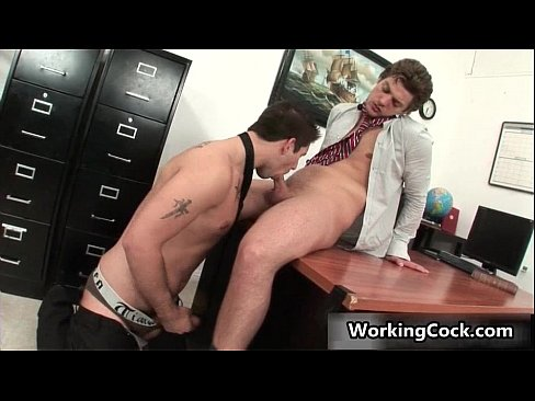 Andrew Gets His Nice Firm Gay Cock Sucked