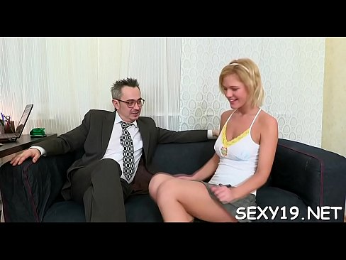 Teacher having sex on couch