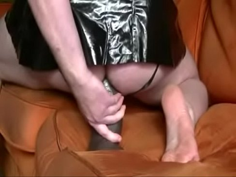 Horny Alf with a huge brown dildo in his ass