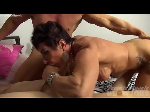 Female Bodybuilder Sucking Cock